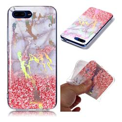 Powder Sandstone Marble Pattern Bright Color Laser Soft TPU Case for Huawei Honor 10