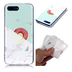 Donuts Marble Pattern Bright Color Laser Soft TPU Case for Huawei Honor 10