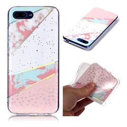 Matching Color Marble Pattern Bright Color Laser Soft TPU Case for Huawei Honor 10
