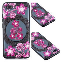 Daffodil Lace Diamond Flower Soft TPU Back Cover for Huawei Honor 10
