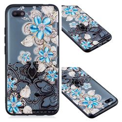 Lilac Lace Diamond Flower Soft TPU Back Cover for Huawei Honor 10