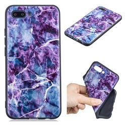 Marble 3D Embossed Relief Black TPU Cell Phone Back Cover for Huawei Honor 10