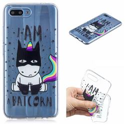 Batman Clear Varnish Soft Phone Back Cover for Huawei Honor 10
