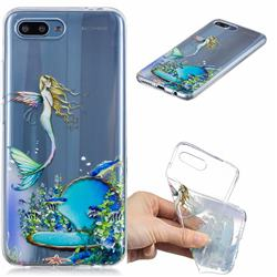 Mermaid Clear Varnish Soft Phone Back Cover for Huawei Honor 10