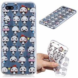 Mini Panda Clear Varnish Soft Phone Back Cover for Huawei Honor 10