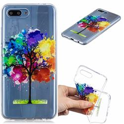 Oil Painting Tree Clear Varnish Soft Phone Back Cover for Huawei Honor 10