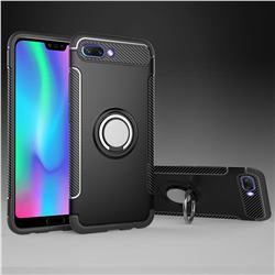 Armor Anti Drop Carbon PC + Silicon Invisible Ring Holder Phone Case for Huawei Honor 10 - Black