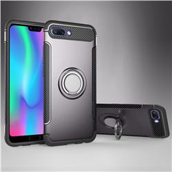 Armor Anti Drop Carbon PC + Silicon Invisible Ring Holder Phone Case for Huawei Honor 10 - Grey