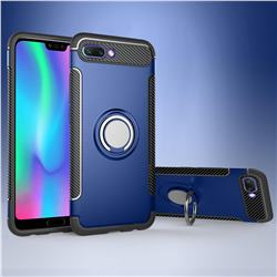 Armor Anti Drop Carbon PC + Silicon Invisible Ring Holder Phone Case for Huawei Honor 10 - Sapphire
