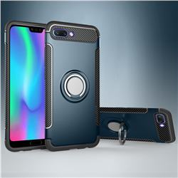 Armor Anti Drop Carbon PC + Silicon Invisible Ring Holder Phone Case for Huawei Honor 10 - Navy