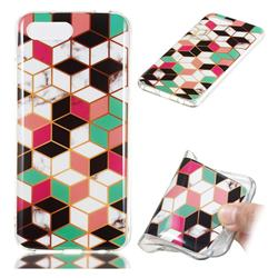 Three-dimensional Square Soft TPU Marble Pattern Phone Case for Huawei Honor 10