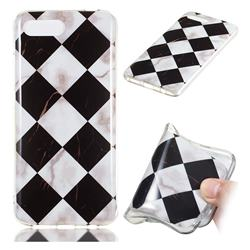 Black and White Matching Soft TPU Marble Pattern Phone Case for Huawei Honor 10