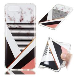 Pinstripe Soft TPU Marble Pattern Phone Case for Huawei Honor 10
