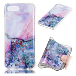 Purple Amber Soft TPU Marble Pattern Phone Case for Huawei Honor 10