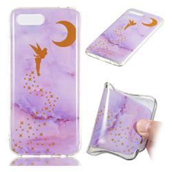 Elf Purple Soft TPU Marble Pattern Phone Case for Huawei Honor 10
