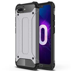 King Kong Armor Premium Shockproof Dual Layer Rugged Hard Cover for Huawei Honor 10 - Silver Grey