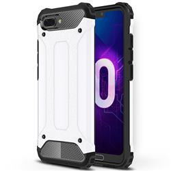King Kong Armor Premium Shockproof Dual Layer Rugged Hard Cover for Huawei Honor 10 - White