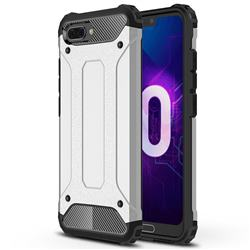 King Kong Armor Premium Shockproof Dual Layer Rugged Hard Cover for Huawei Honor 10 - Technology Silver