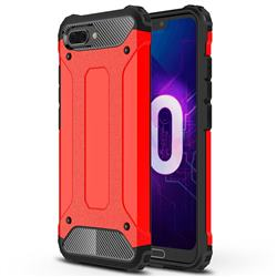 King Kong Armor Premium Shockproof Dual Layer Rugged Hard Cover for Huawei Honor 10 - Big Red