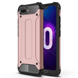 King Kong Armor Premium Shockproof Dual Layer Rugged Hard Cover for Huawei Honor 10 - Rose Gold
