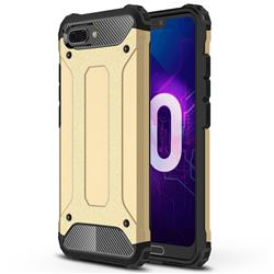 King Kong Armor Premium Shockproof Dual Layer Rugged Hard Cover for Huawei Honor 10 - Champagne Gold