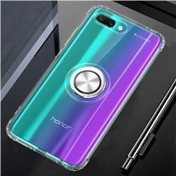 Anti-fall Invisible Press Bounce Ring Holder Phone Cover for Huawei Honor 10 - Transparent