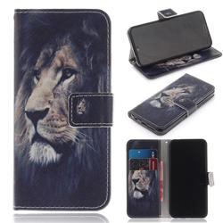 Lion Face PU Leather Wallet Case for Huawei Honor 10