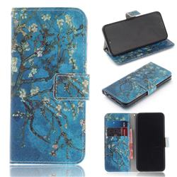 Apricot Tree PU Leather Wallet Case for Huawei Honor 10