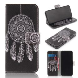 Black Wind Chimes PU Leather Wallet Case for Huawei Honor 10