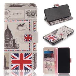 London Envelope PU Leather Wallet Case for Huawei Honor 10