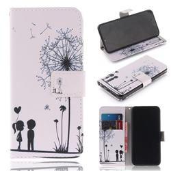Couple Dandelion PU Leather Wallet Case for Huawei Honor 10