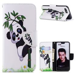 Bamboo Panda Leather Wallet Case for Huawei Honor 10