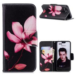 Lotus Flower Leather Wallet Case for Huawei Honor 10