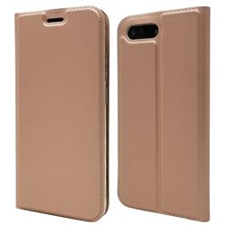 Ultra Slim Card Magnetic Automatic Suction Leather Wallet Case for Huawei Honor 10 - Rose Gold