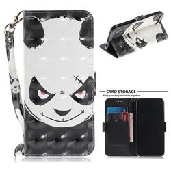 Angry Bear 3D Painted Leather Wallet Phone Case for Huawei Honor 10