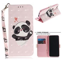 Heart Cat 3D Painted Leather Wallet Phone Case for Huawei Honor 10