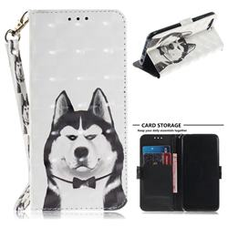 Husky Dog 3D Painted Leather Wallet Phone Case for Huawei Honor 10