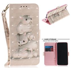 Three Squirrels 3D Painted Leather Wallet Phone Case for Huawei Honor 10