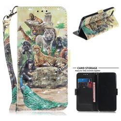 Beast Zoo 3D Painted Leather Wallet Phone Case for Huawei Honor 10