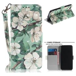 Watercolor Flower 3D Painted Leather Wallet Phone Case for Huawei Honor 10