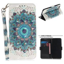 Peacock Mandala 3D Painted Leather Wallet Phone Case for Huawei Honor 10