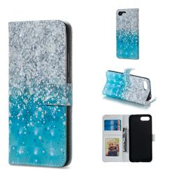 Sea Sand 3D Painted Leather Phone Wallet Case for Huawei Honor 10