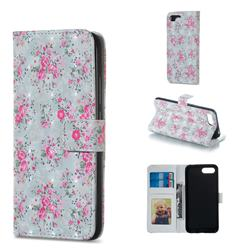 Roses Flower 3D Painted Leather Phone Wallet Case for Huawei Honor 10