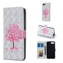 Sakura Flower Tree 3D Painted Leather Phone Wallet Case for Huawei Honor 10