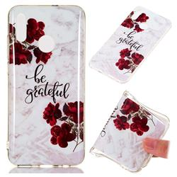 Rose Soft TPU Marble Pattern Phone Case for Huawei Honor 10 Lite