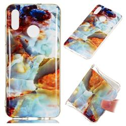 Fire Cloud Soft TPU Marble Pattern Phone Case for Huawei Honor 10 Lite