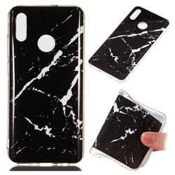 Black Rough white Soft TPU Marble Pattern Phone Case for Huawei Honor 10 Lite