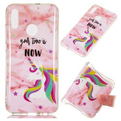 Unicorn Soft TPU Marble Pattern Phone Case for Huawei Honor 10 Lite