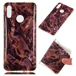 Brown Soft TPU Marble Pattern Phone Case for Huawei Honor 10 Lite