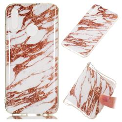 Rose Gold Grain Soft TPU Marble Pattern Phone Case for Huawei Honor 10 Lite